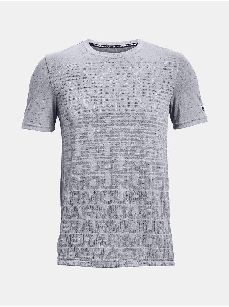 Tričko Under Armour Seamless Wordmark SS - šedá