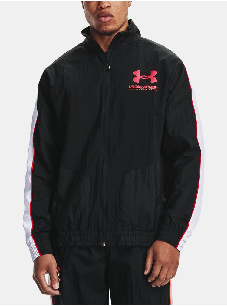 Bunda Under Armour WOVEN TRACK JACKET - černá