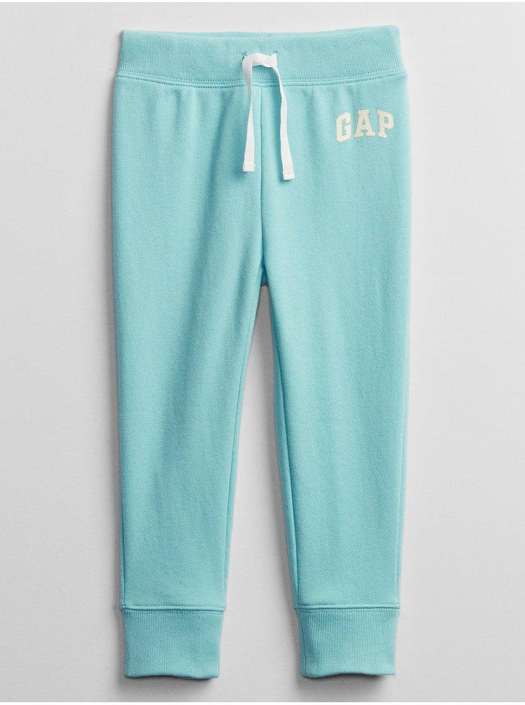Modré holčičí dětské tepláky GAP Logo v-sp pnt