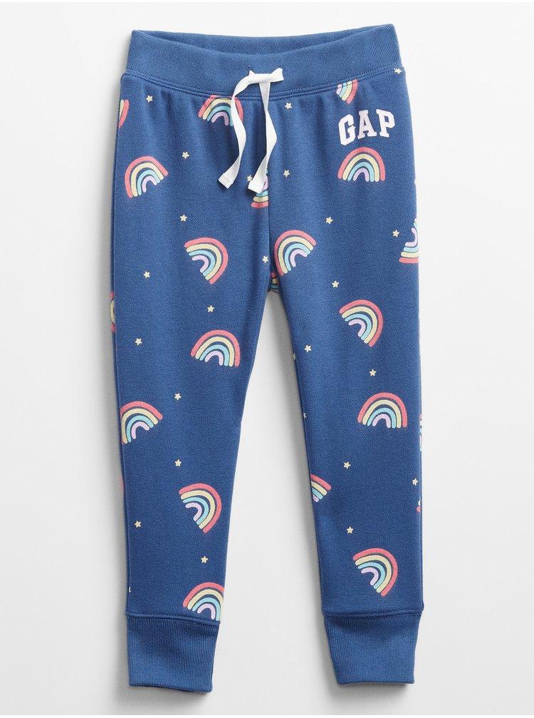 Modré holčičí dětské tepláky GAP Logo v-sp nvlty pnt