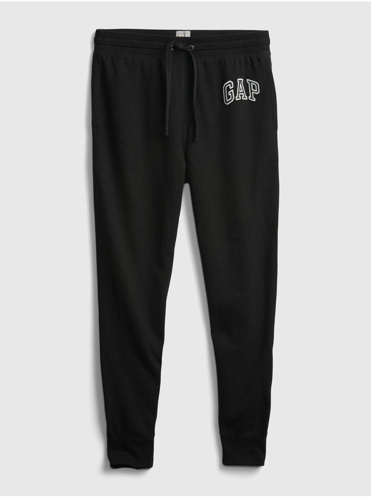 Černé pánské tepláky GAP Logo xls ft arch jo
