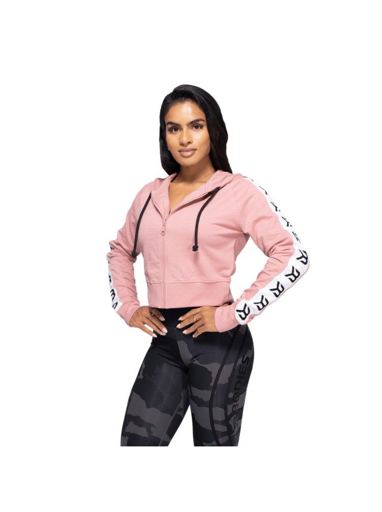 Mikina Better Bodies Crop Vesey Heather Pink