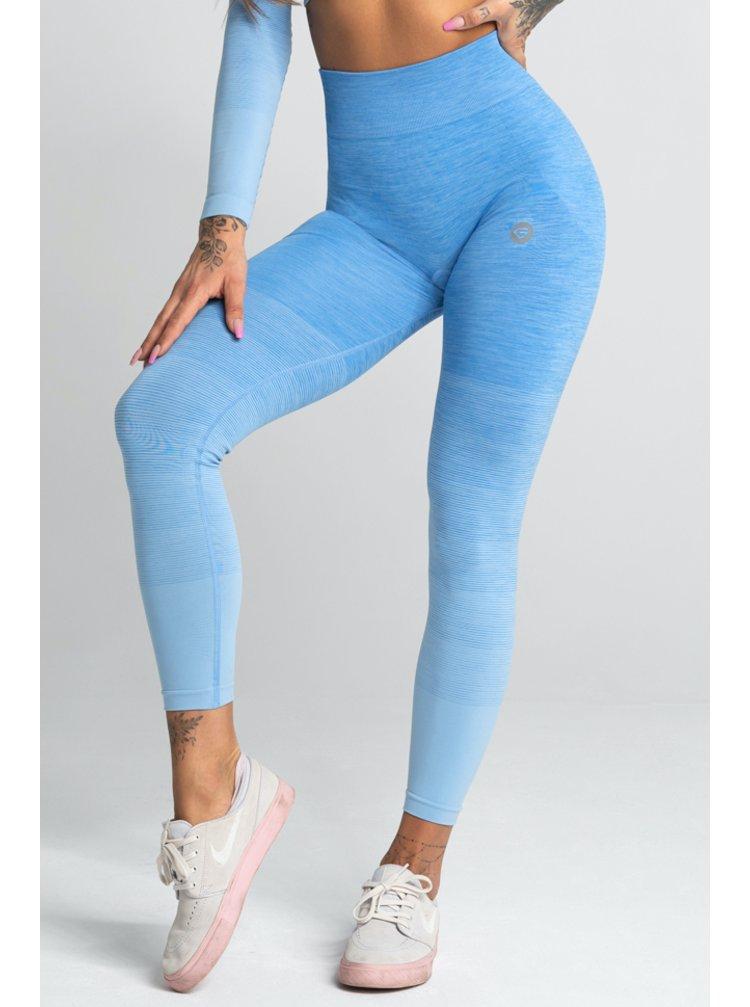 Legíny Gym Glamour Bezešvé Blue Ombre