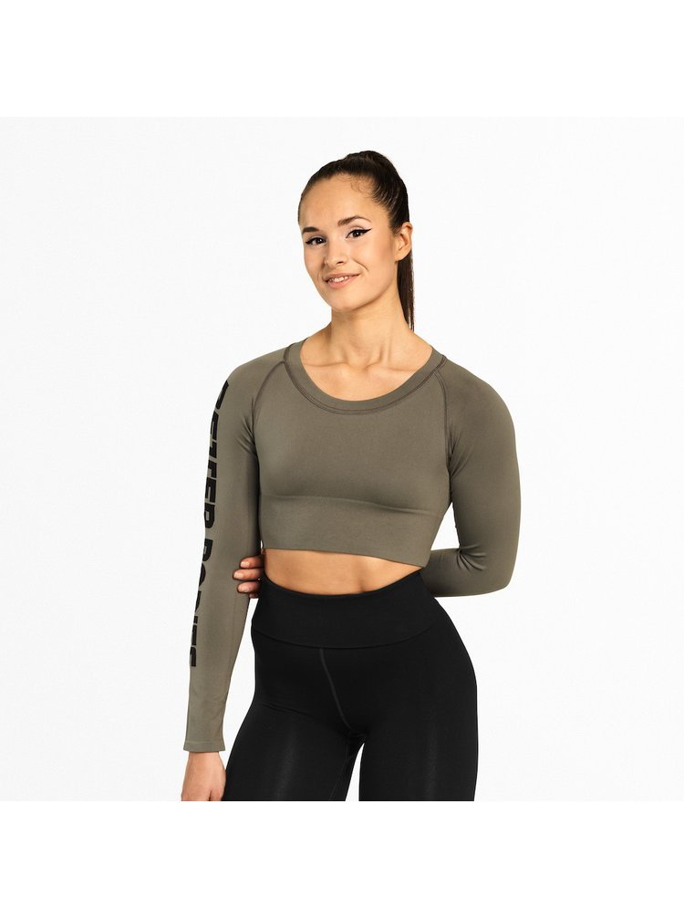 Crop-top Better Bodies Bowery Washed Green