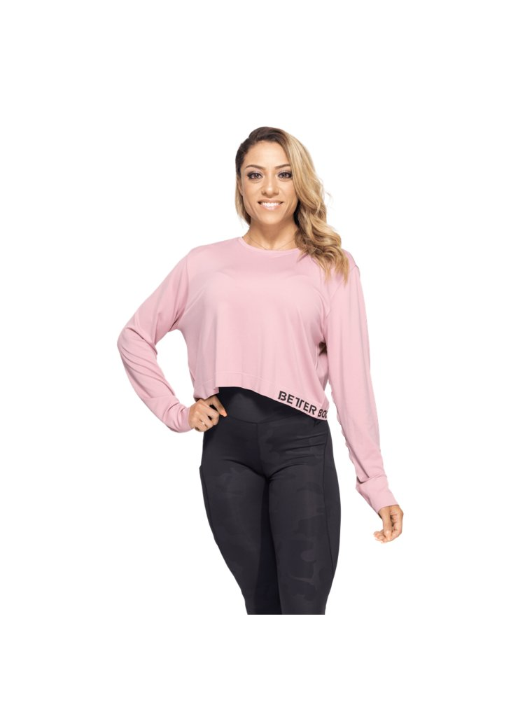 Tričko Better Bodies s Dlouhým Rukávem Rockaway Seamless Pink