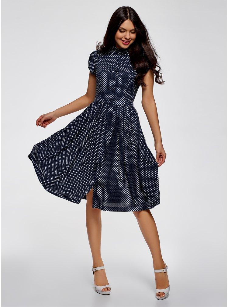 Šaty midi se zvonovou sukní OODJI
