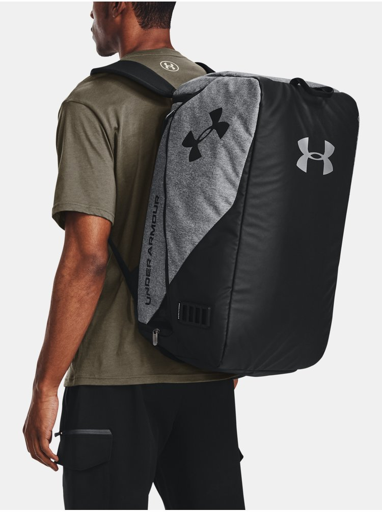 Taška Under Armour Contain Duo MD Duffle - šedá
