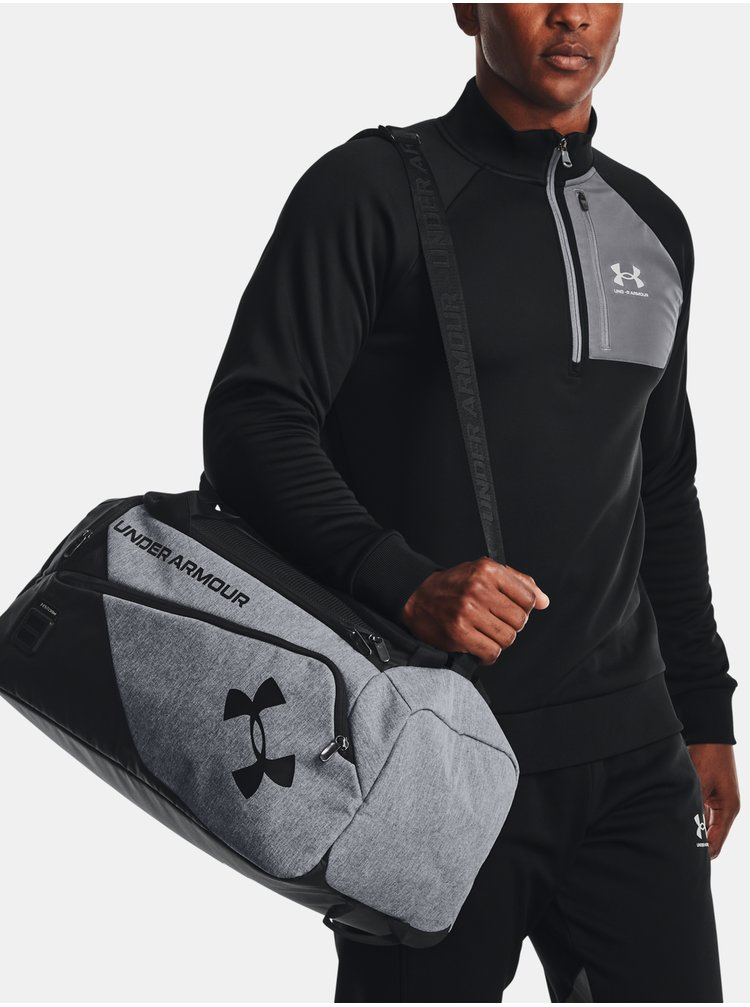 Taška Under Armour Contain Duo SM Duffle - šedá