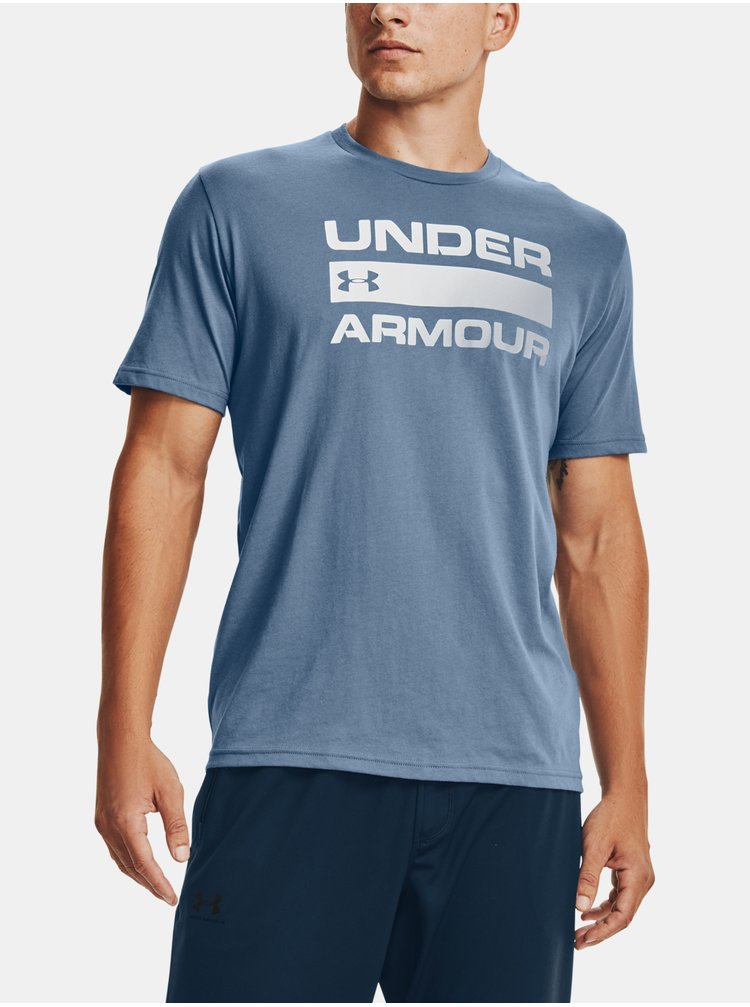 Tričko Under Armour TEAM ISSUE WORDMARK SS - modrá