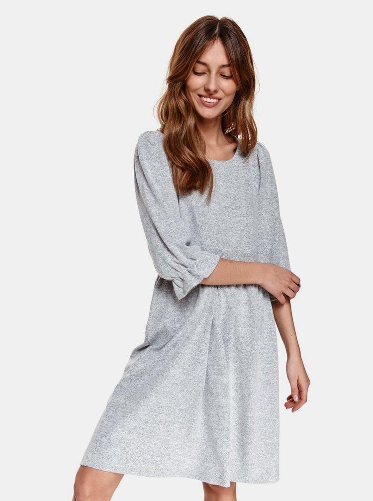 Šedé svetrové šaty TOP SECRET