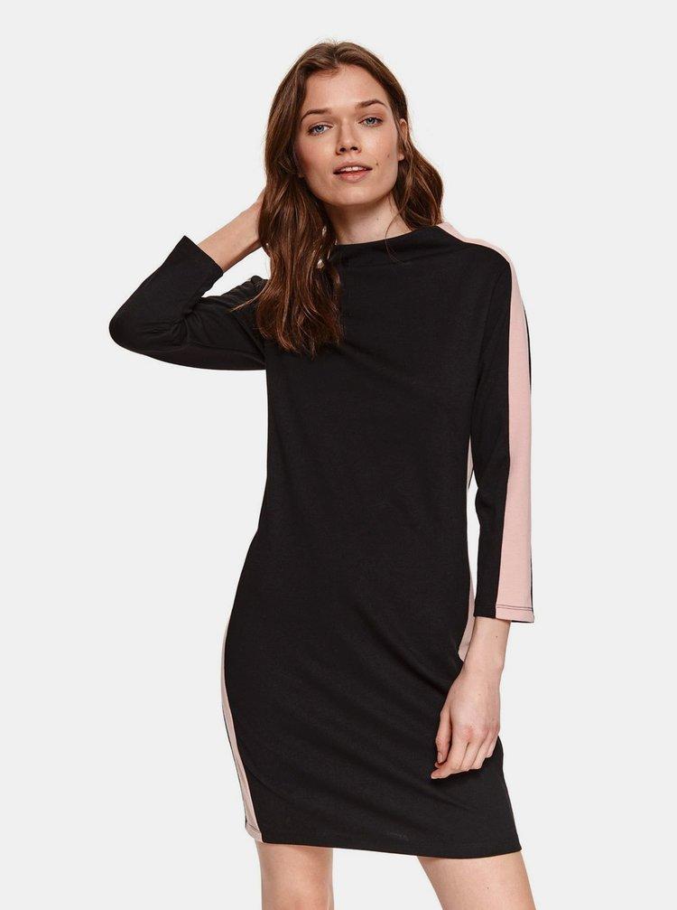 Čierne šaty s pásom TOP SECRET