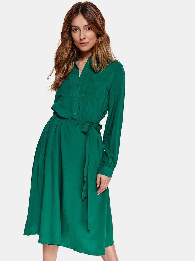 Zelené košeľové šaty TOP SECRET