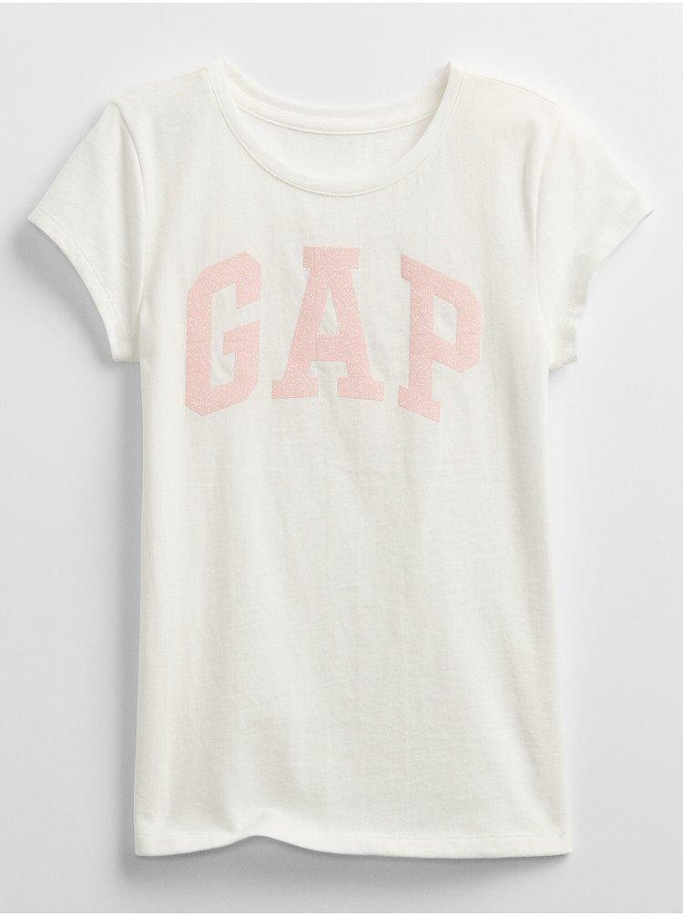 Bílé holčičí dětské tričko GAP Logo v arch