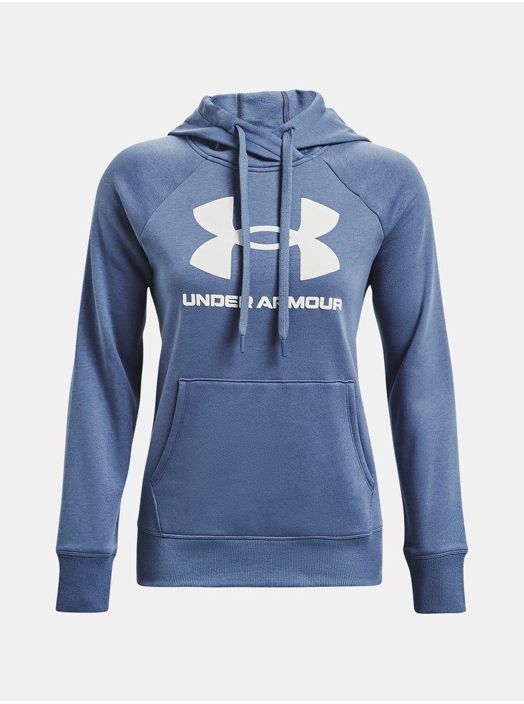 Mikina Under Armour Rival Fleece Logo Hoodie - modrá