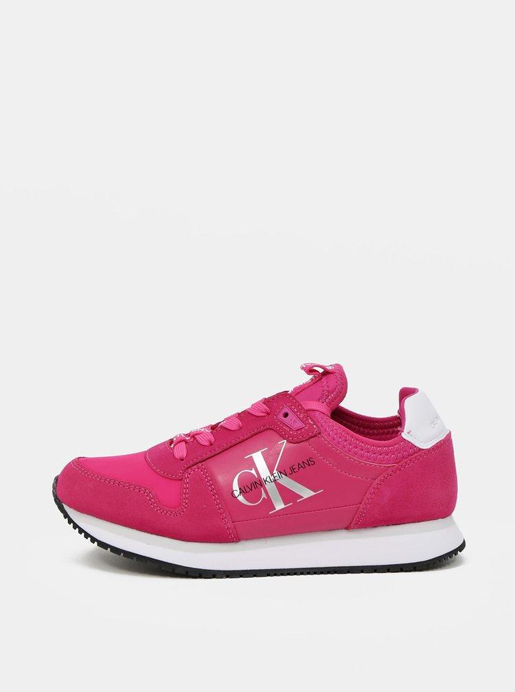 Calvin Klein růžové tenisky Runner Sock Laceup