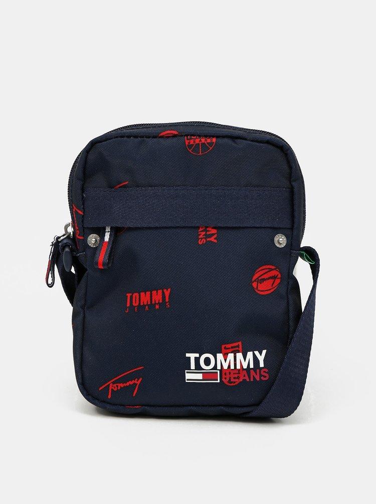 Tommy Hilfiger modré taška Campus Reporter Print