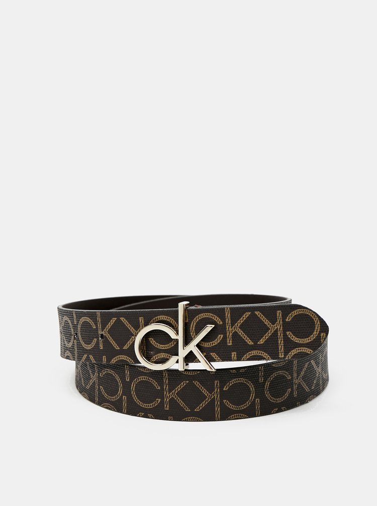 Calvin Klein hnedé opasok CK Logo Belt