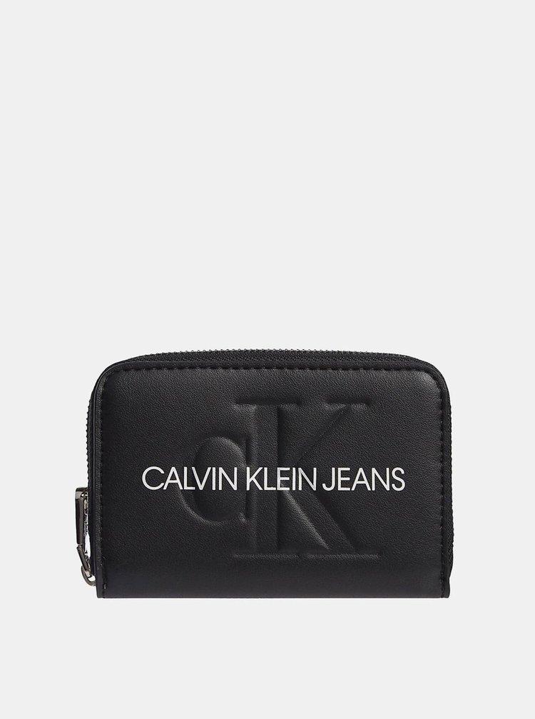 Calvin Klein černá peněženka Accordion Zip Around