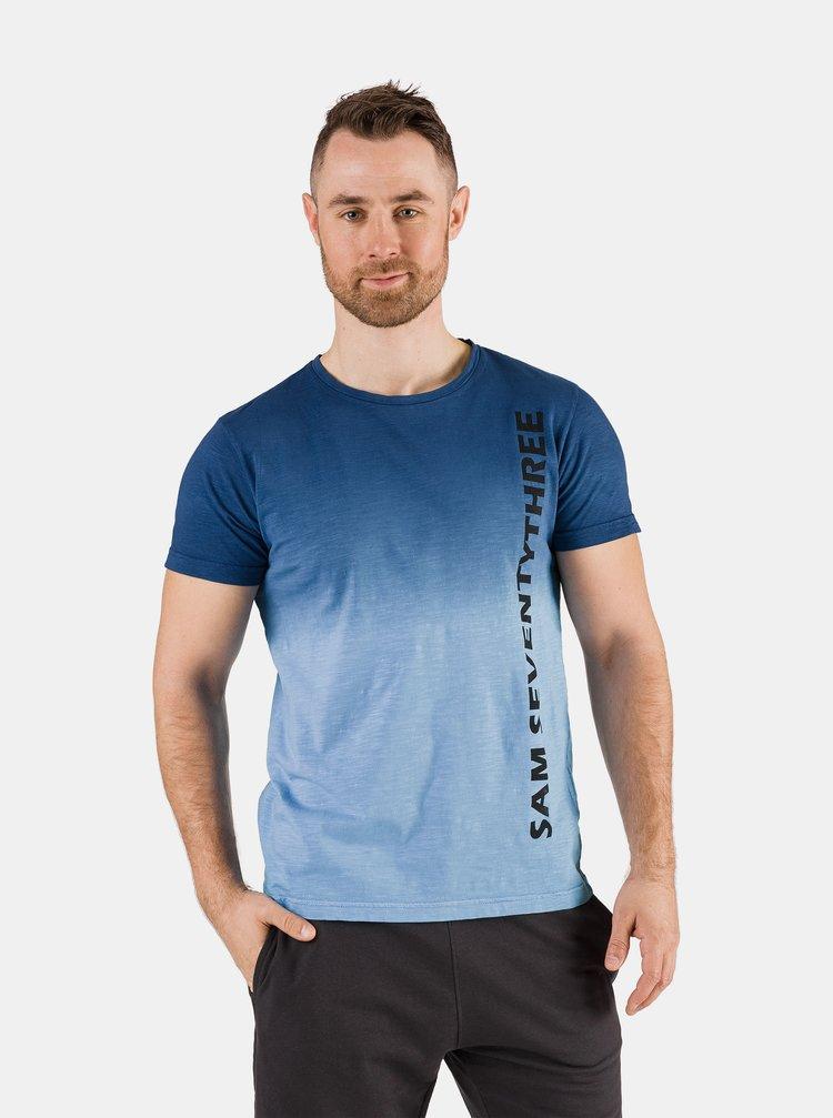 Modré pánské tričko s nápisem SAM 73