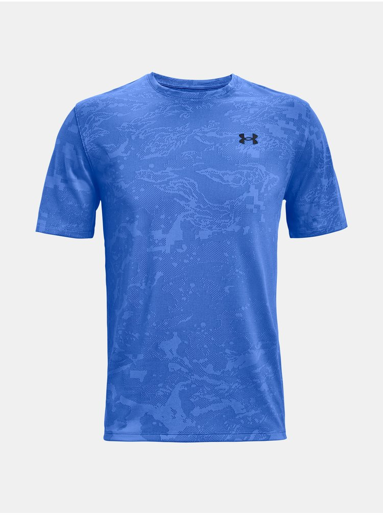 Tričko Under Armour UA Training Vent Camo SS - modrá