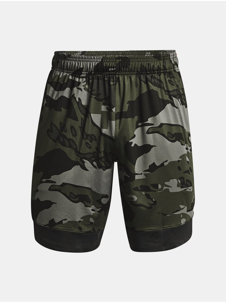 Kraťasy Under Armour Train Stretch Camo Sts - zelená