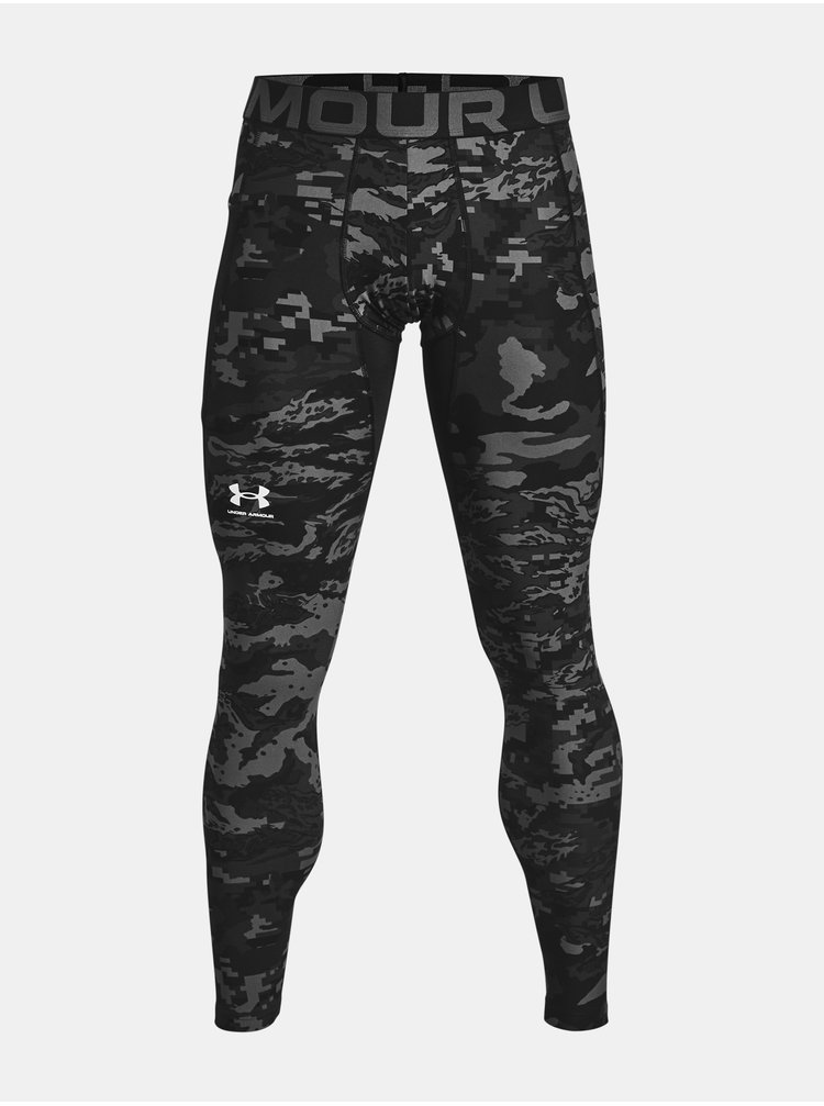 Legíny Under Armour UA HG Armour Camo Lgs - černá