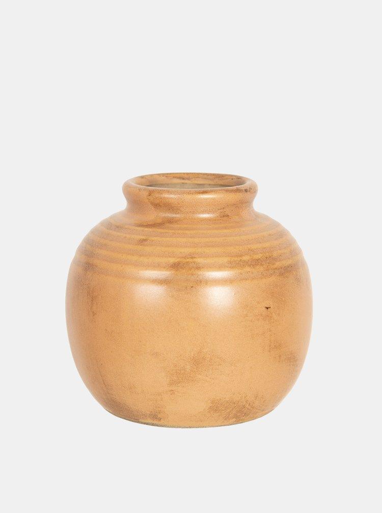 Světle hnědá váza Clayre & Eef