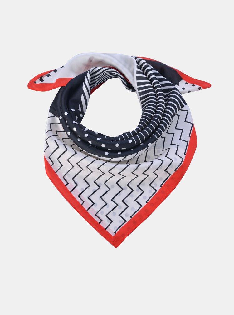 Modro-bílý vzorovaný šátek Clayre & Eef