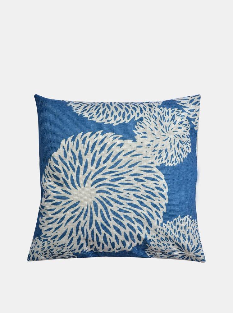 Modrý vzorovaný polštář Clayre & Eef 43 x 43 cm