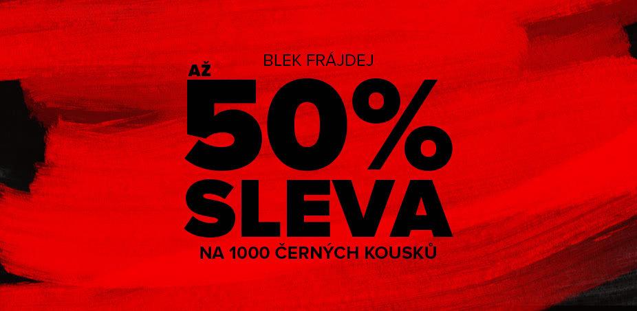 BLEK FRÁJDEJ: Až 50% sleva na černé kousky